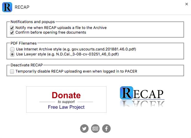 RECAP Screenshot