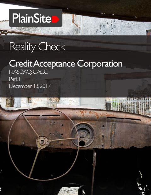 Reality Check: Credit Acceptance Corporation, Part I