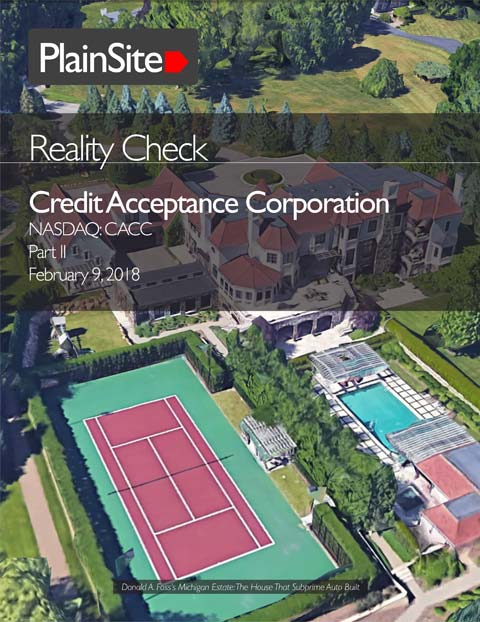 Reality Check: Credit Acceptance Corporation, Part II