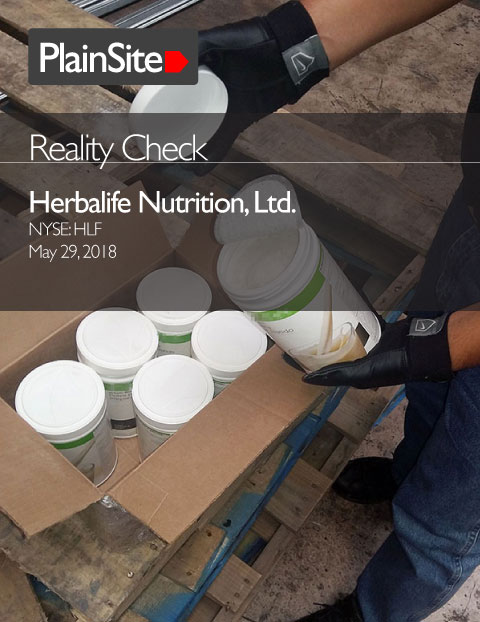 Reality Check: Herbalife Nutrition, Ltd.